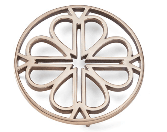 picture of a gold-color trivet