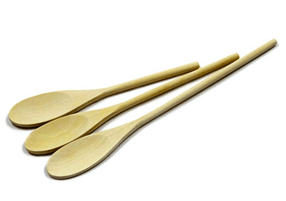 3 wooden spoon set