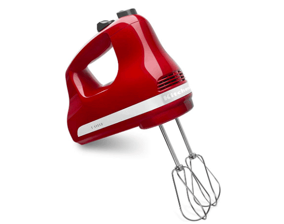 red electric hand held mixer